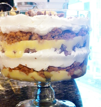 Fall Trifle: This fun fall dessert is full of layers like apple pie filling and pumpkin cake.