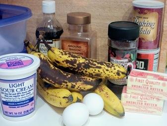 banana cake ingred