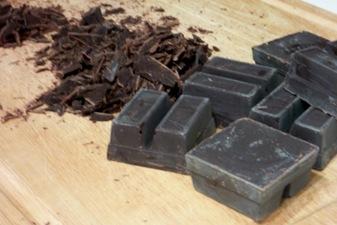 chopping chocolate