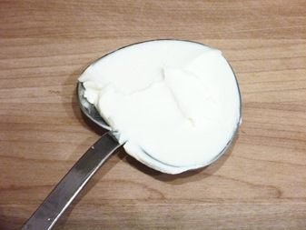 cream cheese measured