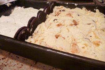 ice cream on brownie 1