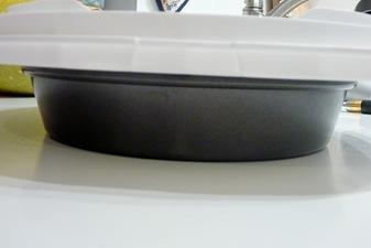 plate over cake pan