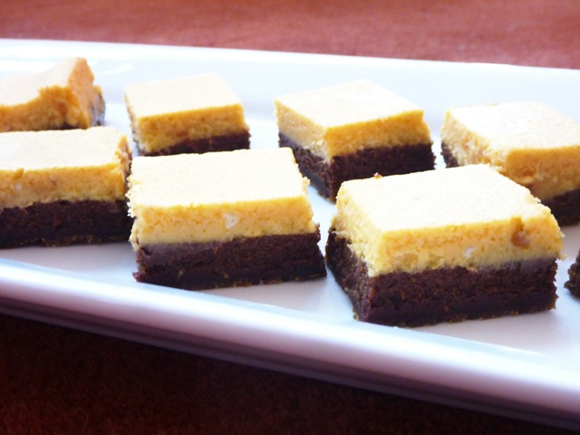 Pumpkin Chocolate Cheesecake Bars | Keep It Sweet Desserts