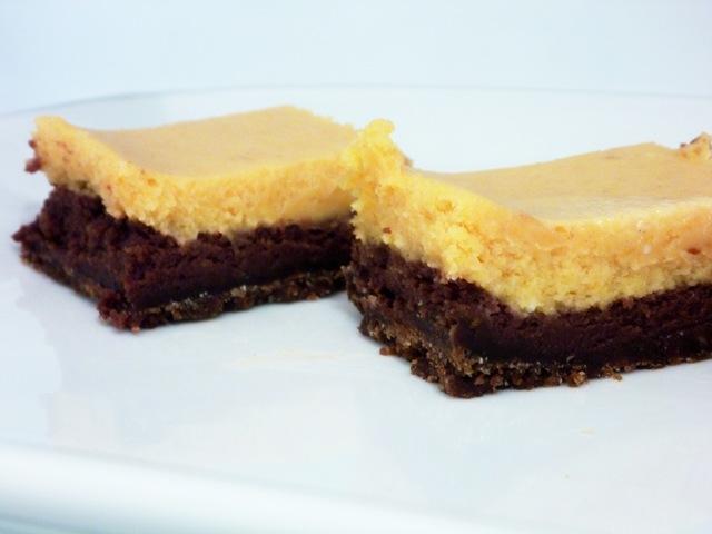 Pumpkin Chocolate Cheesecake Bars | Keep It Sweet Desserts