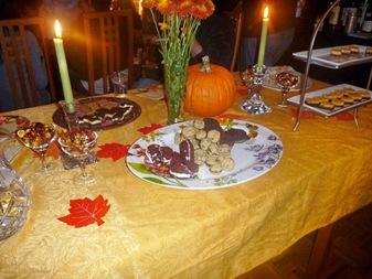 dessert table after