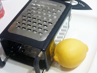 lemon and microplane